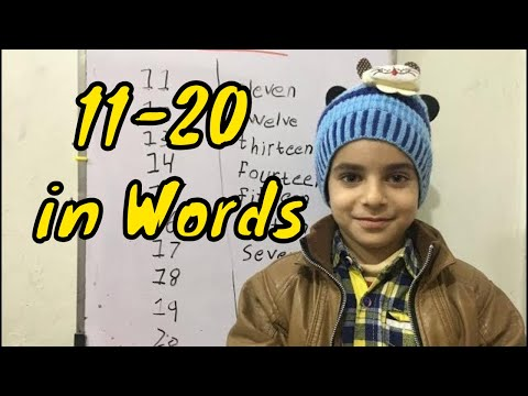 Learn Numbers 11 to 20 with Spelling | 11 to 20 Number Words for Kids Preschool