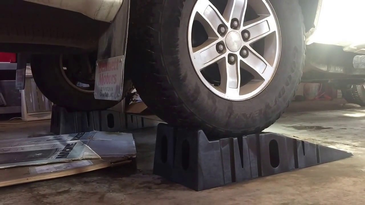 Rhino Ramps Max On Wet Garage Floor Youtube