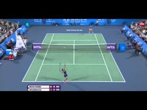 Caroline Wozniacki vs Eugenie Bouchard 2014 Semi Final Highlights - WTA Wuhan Open