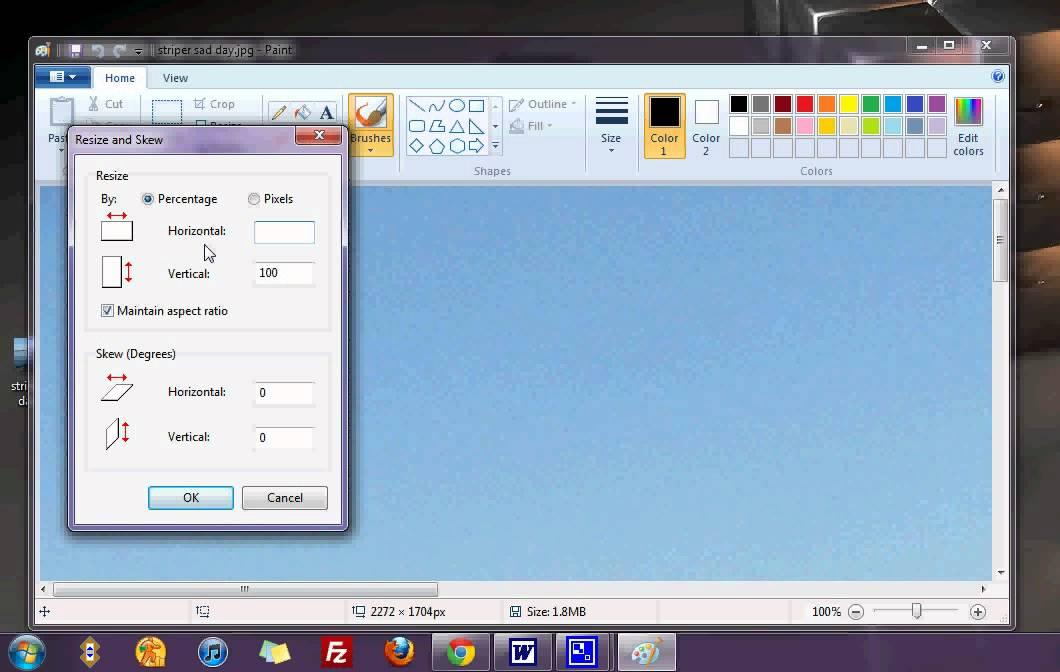 resize photos in windows 7