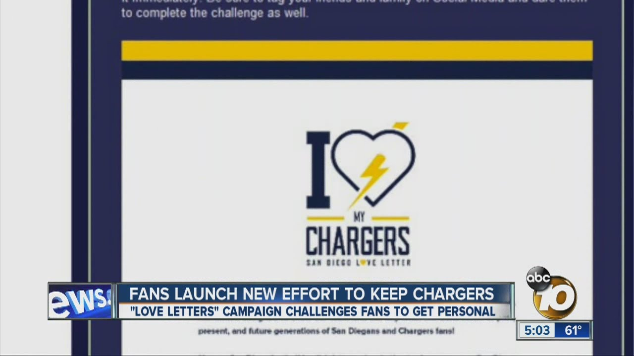 Fans Launch Love Letters Campaign To Save Chargers