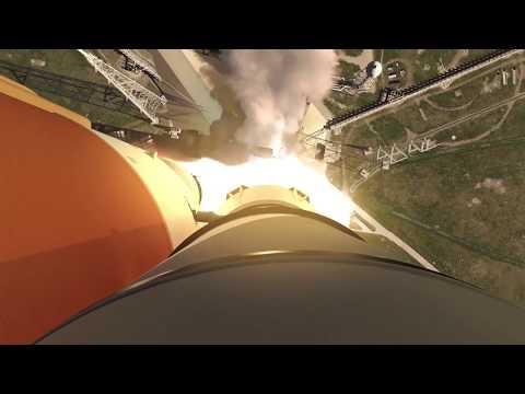 SLS EM-1 Launch Animation