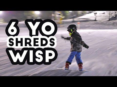 Night Snowboarding At Wisp Resort -- Deep Creek Lake, Maryland