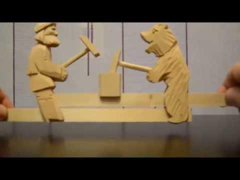 Игрушка деревянные мишки (dereviannie mishki)