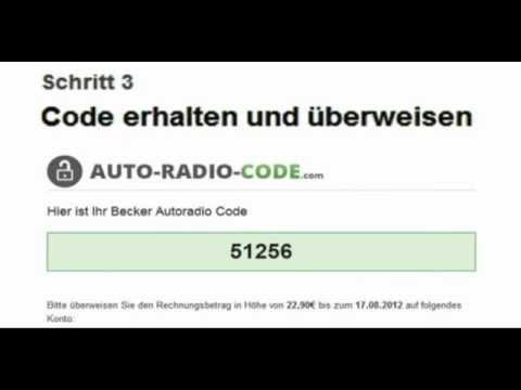 radio code verloren? | profi hilfe: code in 2 min bestellen - youtube