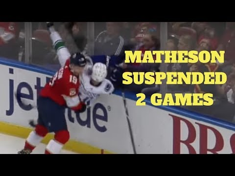 Vancouver Canucks: Mike Matheson suspended 2 games by NHL for his hit on Elias Pettersson