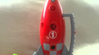 Space rocket toy with lights and sounds
