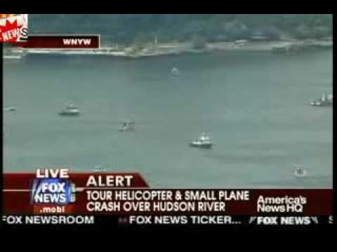 9 killed in a Tour Helicopter & Small Plane Crash Over Hudson River