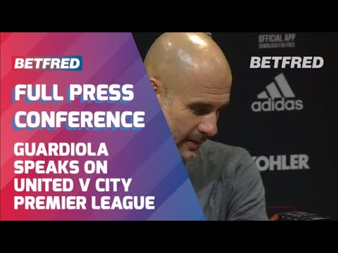 Manchester Derby   Pep Guardiola's post match reaction.