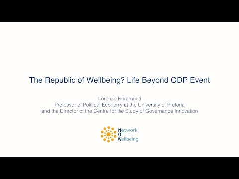 Lorenzo Fioramonti - Lecture on Wellbeing and GDP