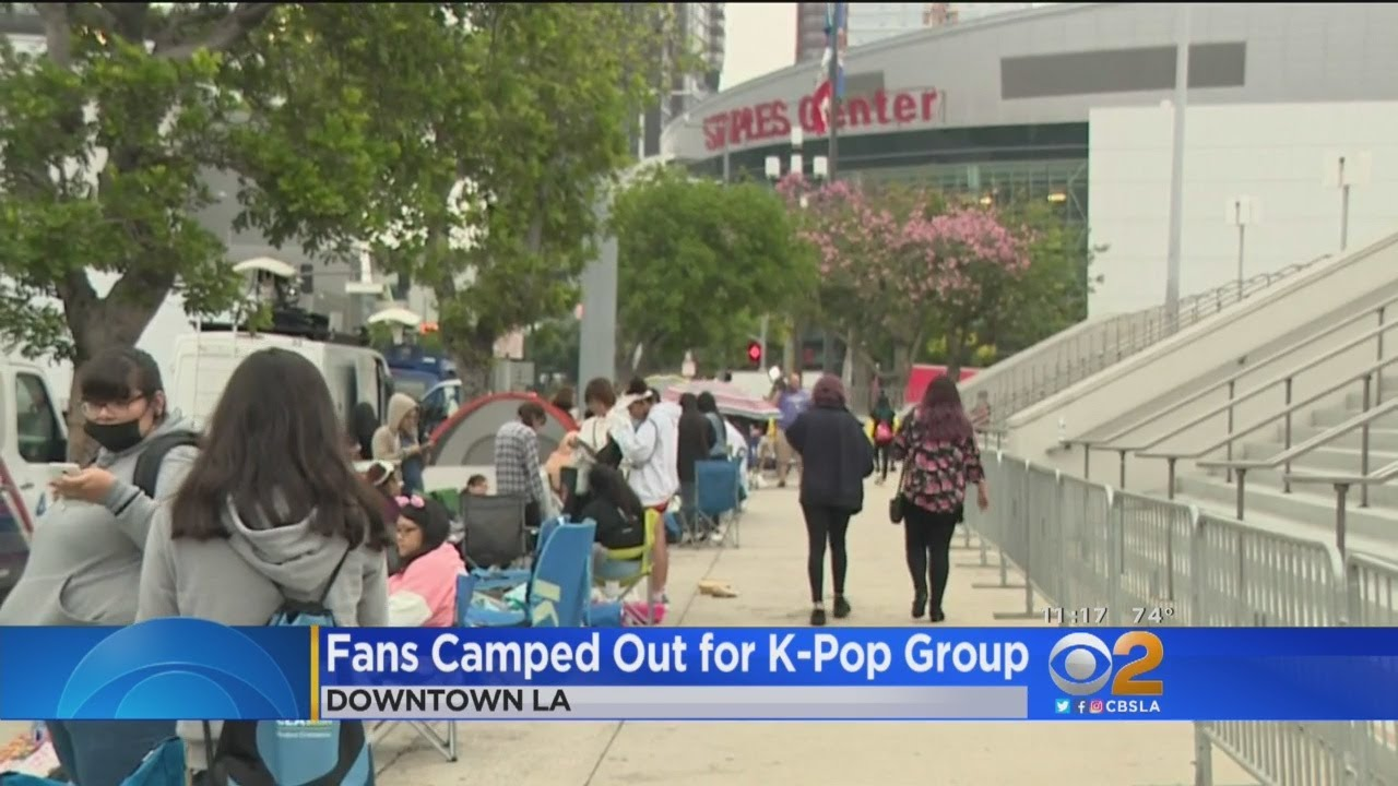 Fans Camp Out To Get Prime Seats For BTS Concert At Staples Center