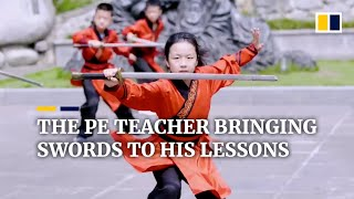 Download The Chinese PE teacher bringing swords to his lessons