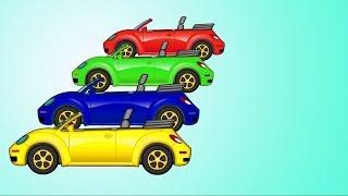 Maria está pintando um carro! Vamos aprender as cores com Maria e Helpy em português