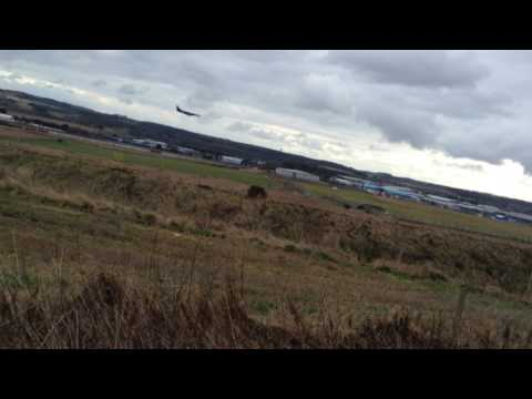 Eastern airways j41 landing at Aberdeen