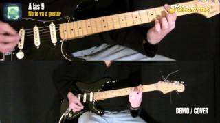 Como tocar  A las Nueve de No te va gustar en guitarra DEMO COVER GUITARRA