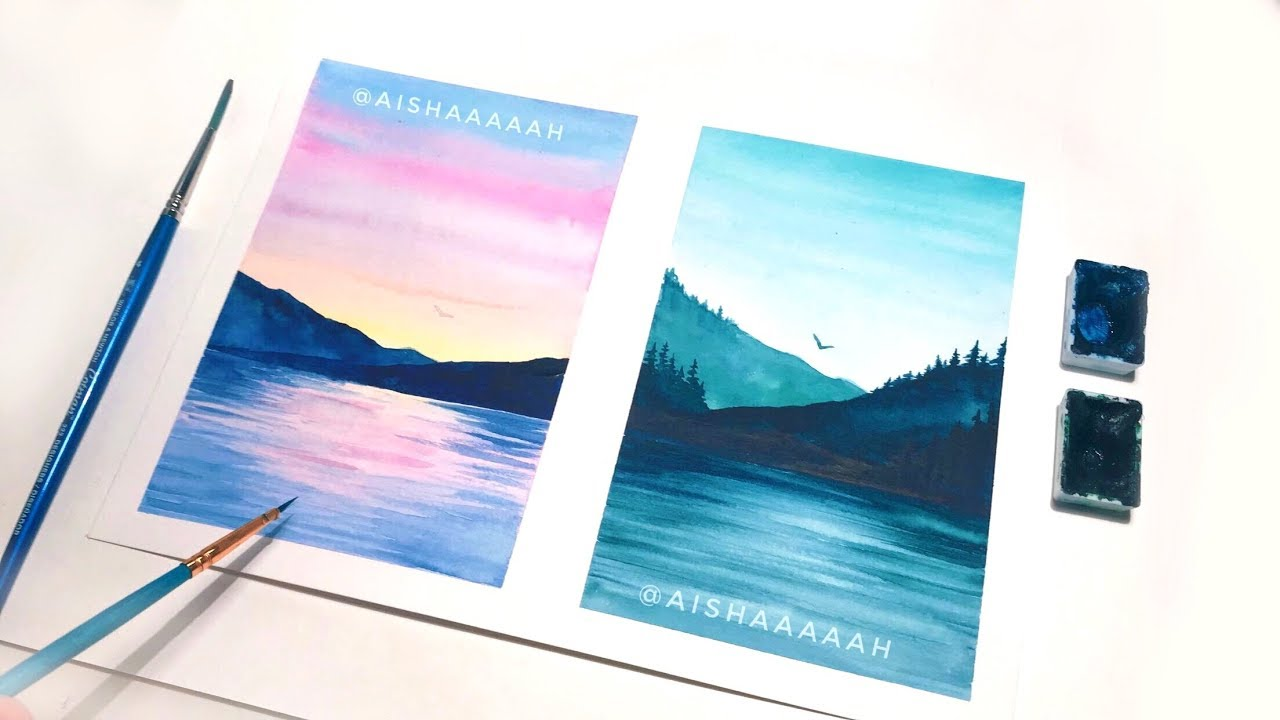 Nature Watercolor Painting Tutorial Watercolor Ideas For Beginners