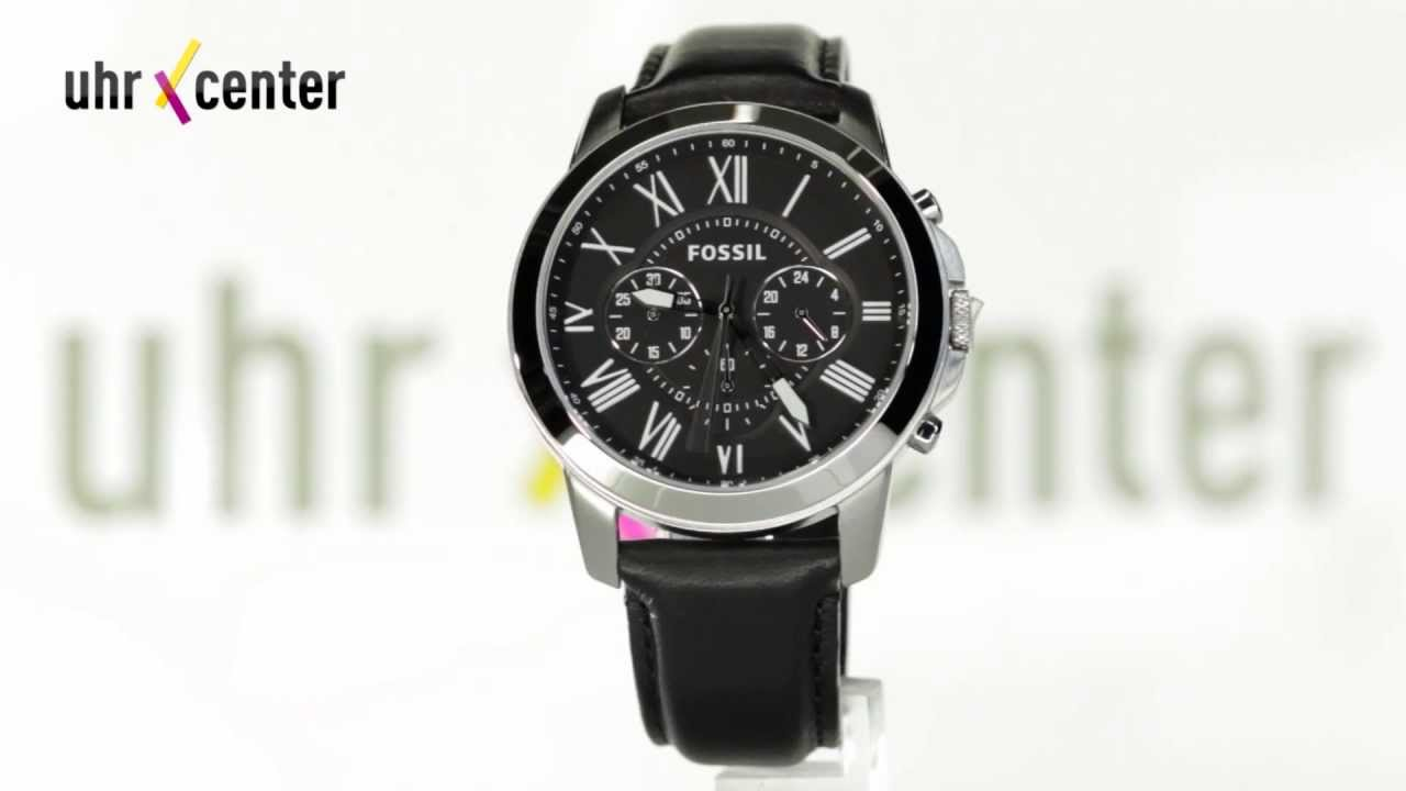 Connu Fossil FS4812 Grant Chronograph Herrenuhr - YouTube EJ03