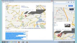 How To Embed Google Map on Web Page Free HD Video