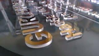 Apak 15mm ŞEFFAF PLEKSİ LAZER KESİMLİ HARF ÜZERİ GOLD KROM PASLANMAZ LAZER KESİM HARFLER (tabela)