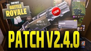 HUGE FORTNITE UPDATE! NEW MINI GUN! NEW AUTO SPRINT OPTION!| FORTNITE PATCH 2.4.0