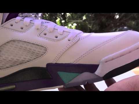 6871eaa0a30 Video: Grape Air Jordan 5 (V) 2013 Retro | SneakerFiles