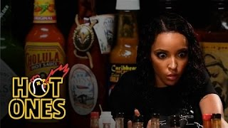 Tinashe Talks NFL Dances and 2015's Sexiest Songs While Eating Spicy Wings | Hot Ones
