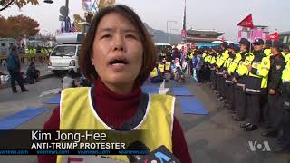 South Koreans Welcome Trump to Seoul