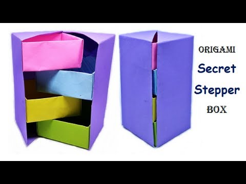 How to make Origami - Stepper Box | Chest of Drawers | Tower Box | Useful Origami | Craftastic