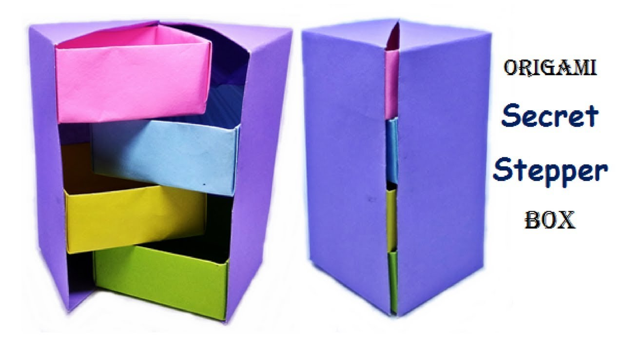 How To Make Origami Stepper Box Chest Of Drawers Tower Box