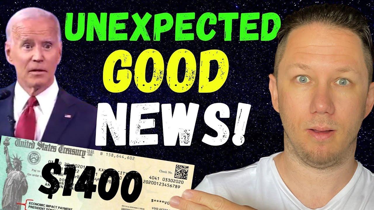 WOW CRAZY NEWS!! $1400 Third Stimulus Check Update