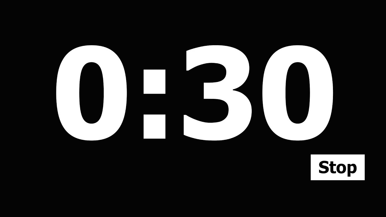 30 Second Countdown Timer - YouTube