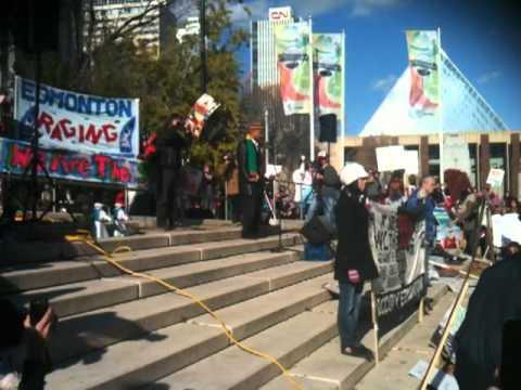 Occupy Edmonton Commencement Rally Oct. 15 2011 - Malcolm Azania's talk