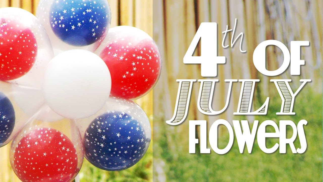 Easy Balloon Centerpieces For July 4th Patriotic