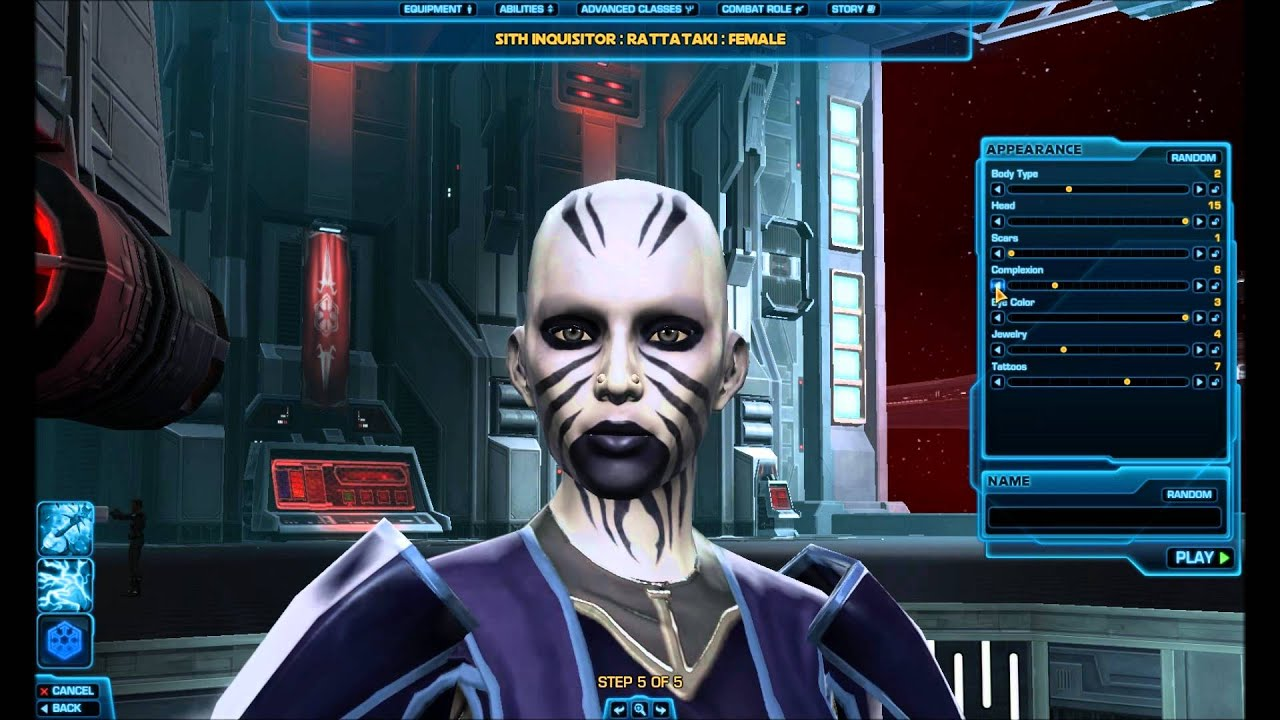 Star Wars The Old Republic Hd Character Creation Ratattaki Female