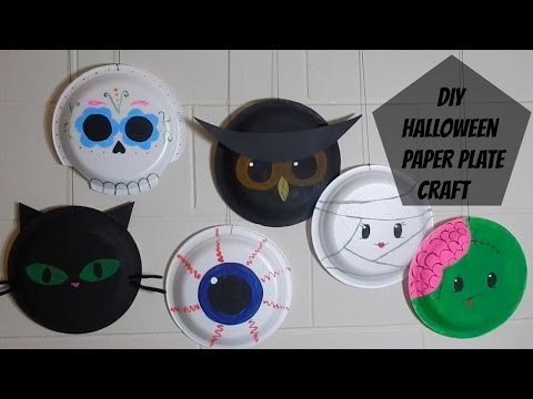 DIY: Paper Plate Halloween Craft