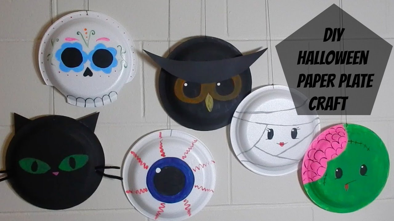 DIY: Paper Plate Halloween Craft - YouTube