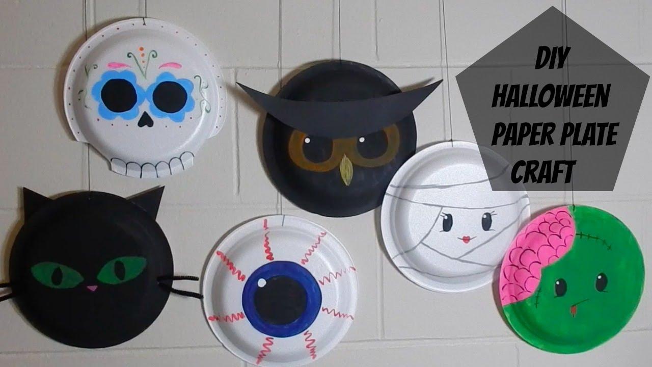 DIY: Paper Plate Halloween Craft - YouTube