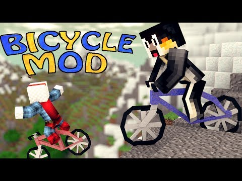 Minecraft: PokeCycle Mod Showcase! (Minecraft Bicycle Mod)