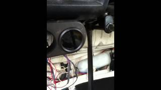 Intellitronix water temp gauge in VW van w/ Ford V6 engine
