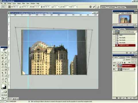 как исправить перспективу в фотошопе cs5