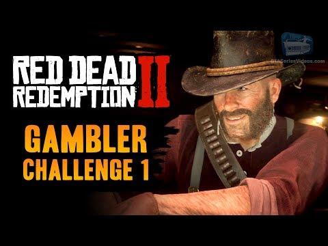 Red Dead Redemption 2 Gambler Challenge #1 Guide - Win 5 hands of Poker - 동영상