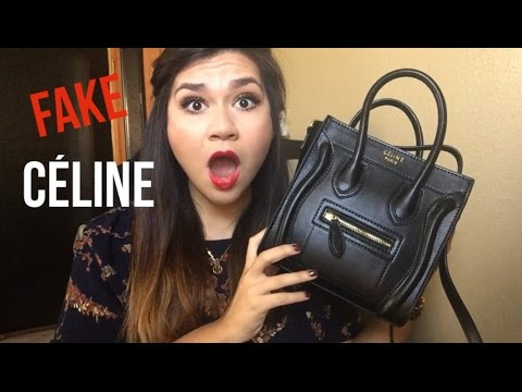 celine black and white luggage bag - I bought a FAKE Celine!? - YouTube