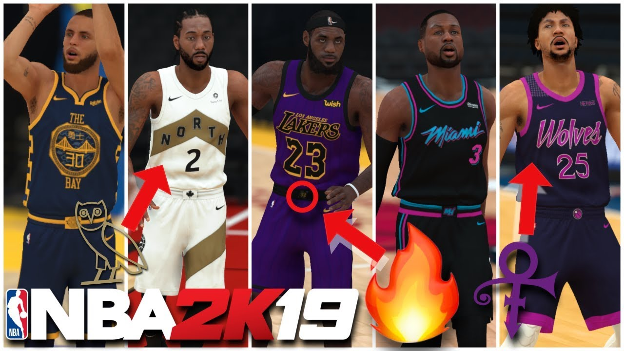 NBA 2K19   NEW NIKE CITY JERSEYS UPDATE - NEW JERSEYS ARE HERE