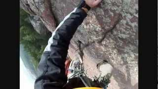 Climbing the First Flatiron in Boulder, CO