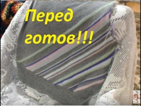вязание на машине свитер из кашемира с диагональными полосками