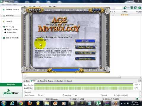 How to download Age of mythology on uTorrent