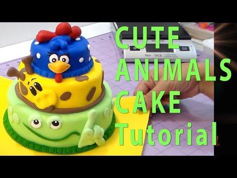 CUTE ANIMAL TIER CAKE by Cup n Cakes Gourmet