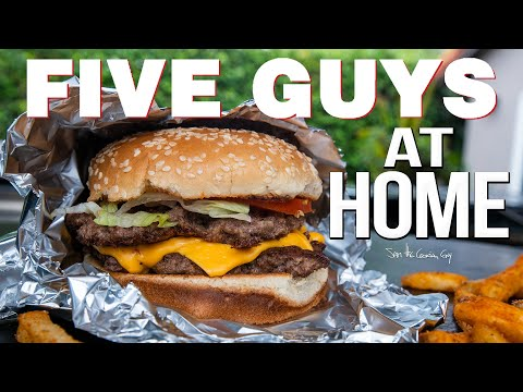 The Best FIVE GUYS Burger At Home | SAM THE COOKING GUY 4K