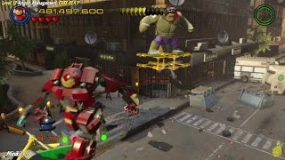 Lego Marvel Avengers: Lvl 12 / Anger Management FREE PLAY (All Collectibles) - HTG