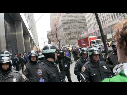"""#OccupyWallStreet #F29 Mic Check @ PFIZER """"Don't Tell The Cops!"""" Anti-ALEC protest! 2/29/12"""